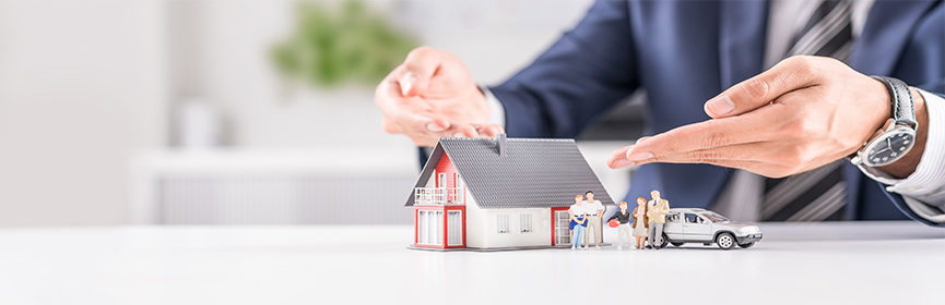 Concept-of-homeowners-insurance-showed